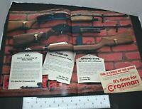 1972 Crosman Air Rifle Guns CO2 Pump-Up Spring-Type 622 760 M1 Vintage Print Ad