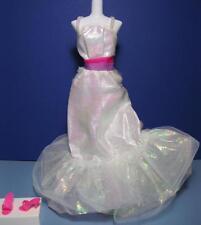 Vtg Superstar 1984 CRYSTAL BARBIE DOLL Long Dress Iridescent Skirt #4598 OT shoe
