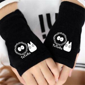 Anime My Neighbor Totoro Women Men's Glove Knit Wrist Mitten Fingerless Cosplay
