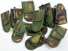 GENUINE DUTCH ARMY POCKET KNIFE BELT POUCH + ALICE CLIP in WOODLAND CAMO TYPE 1