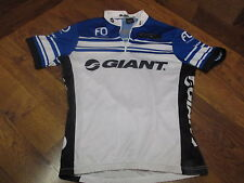 GIANT by VERGE SHORT SLEEVE QUARTER ZIP CYCLING JERSEY WHITE BLUE BLACK - LARGE