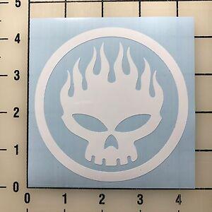 """The Offspring Logo 4"""" Wide White Vinyl Decal Sticker - BOGO"""