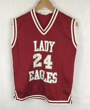Lady Eagles Basketball Jersey Ladies Large Red Vest Top SNL Athletics #24