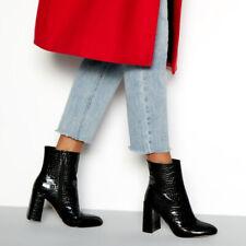 faith block heel boots