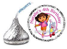 216 DORA THE EXPLORER BIRTHDAY PARTY FAVORS HERSHEY KISS KISSES LABELS