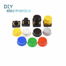 Momentary Tactile Push Button Touch Micro Switch 4p Pcb Caps 12x12x73mm 12mm Us