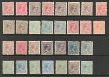 Spain Philippines 1890-1897. King Alfonso Collection of 30.MH.Very Fine