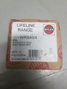 Wylex 40 Amp 40a 30mA RCD Four Pole 4P RCCB WRS40/4