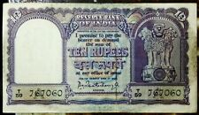 10 RUPEES BOAT ISSUE 1962 BIG SIZE SIGNED GOV. P C BHATTACHARYA D-7