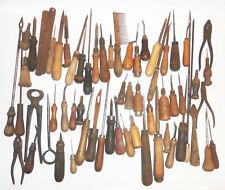 Konvolut altes Sattler Schuster Werkzeug Vorstecher Zangen 63 Teile vintage tool