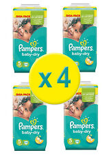 432 Couches Pampers Baby Dry Junior GIGA,  Taille 5 ,  11-25 Kgs - Nouveau