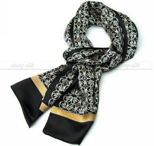Fashion  Mens 100% Silk Long Scarf/Cravat Scarives Double Layer XMAS Gifts