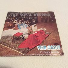 VIEW-MASTER 3 REELS THE ROYAL WEDDING BELGIUM