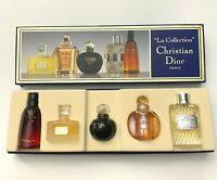 Christian Dior La Collection 5 miniatures EDT & Esprit De Parfum VINTAGE SET