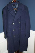 Original Early Vietnam War U.S. Air Force Blue Wool Overcoat, 1963 d. Size 43 R