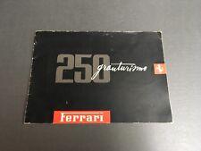 58' Ferrari 250 Granturismo full line sales Brochure ( English)
