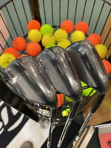 BRAND NEW CLEVELAND ZIPCORE BLACK WEDGE SET 50,54,58 / DG TOUR ISSUE SPINNER