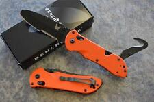 Benchmade 916SBK-ORG Triage Rescue Knife w/ Seatbelt Hook & Glass Breaker Tip