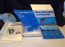 Vintage Bulova watch display