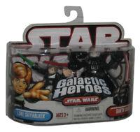 Star Wars Galactic Heroes Luke Skywalker & Darth Vader Hasbro Figure Set