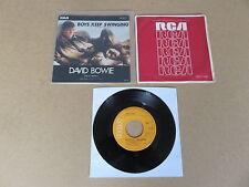 "DAVID BOWIE Boys Keep Swinging / Fantastic Voyage 7"" RARE 1979 JAPANESE SLEEVE"