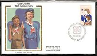 Canada Scott # 1062 Girl Guides Movement FDC. Colorano Silk Cachet.