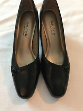 Soft Style By Hush Puppies Black Button Pumps Womens Sz 8M