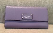 NWT Kate Spade Wellesley lush lilac leather snap wallet $159