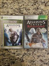 XBOX 360 Assassin's Creed AND A.C. REVELATIONS Platinum Hits Edition TESTED