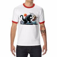 Men's Funny Catching Kaiju T-Shirt Cotton Short Sleeve Fashion Tops Tee shirts