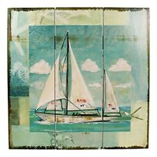 Wandbild maritim- Segelboot- Segler Holz- Shabby