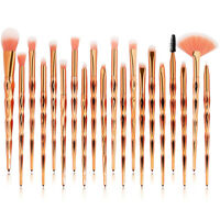 20Pcs Pro Makeup Brushes Set Foundation Powder Eyebrow Eyeshadow Lip Brush Tools