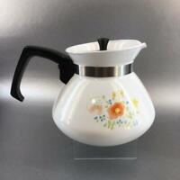 Vintage Corning Ware Wildflowers 6 Cup Teapot Metal Lid P-104 Vintage Coffee Pot