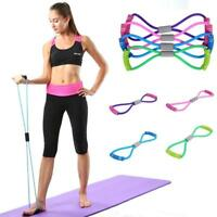 Stretch Tube Resistance Band Fitness Muscle Workout Exercise Yoga Elastic Cord