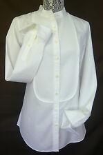 THOMAS MASON for J. CREW MANDARIN COLLAR TUXEDO COTTON SHIRT WHITE Sz 6 Rtl $158