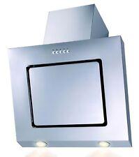 Dunstabzugshaube Edelstahl Kopffreihaube LED Randabsaugung 60cm Schräghaube INOX