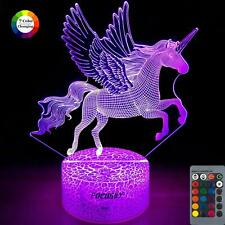Unicorn Night Light for Kids,Dimmable Led Nightlight Bedside Lamp,16 Colors+7 Co