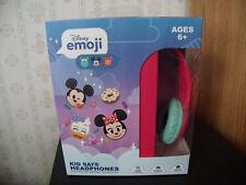 DISNEY EMOJI KID SAFE HEADPHONES PINK BRAND NEW IN BOX