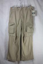 NWT Arizona Husky Vintage Cargo Khaki Pants Size 14 Husky