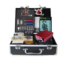 Quality Best tattoo kits 2 machine with MINI power needles tips grip complete
