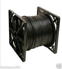2x500ft RG59 solid copper core Siamese cable ETL Listed <Black>