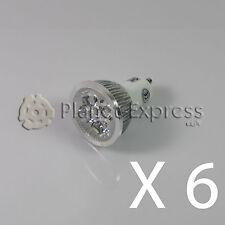6 x Bombilla 4W LED GU10 Blanco Calido 220V 350 lumen Bajo Consumo! equiv.40W