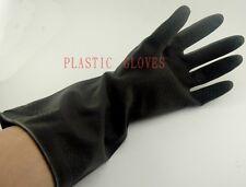 Pairs Gloves Plastic Black M Size Long Kitchen Home
