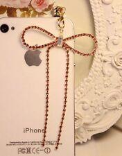 Pink Big Crystal Bowknot 3.5mm Anti Dust Plug for iPhone,iPad,Samsung Galaxy,HTC