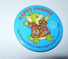 "Real Musgrave 2"" Pocket Dragon ""Happy Ending"" pinback 2006 pin"