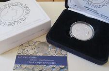 2003 Royal Mint Coronation Jubilee £5 Five Pound Silver Proof Coin Box Coa Cc