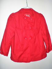VESTE STYLE CABAN EDC TAILLE 40 ROUGE MANCHES 3/4