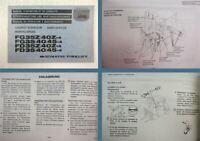 Komatsu FD/FG 33 35 40 45-4 / Z-4 Gabelstapler Bedienungsanleitung und Wartung
