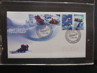 AUSTRALIA 1998 AAT TRANSPORT SET 4 STAMPS FDC FIRST DAY COVER MAWSON