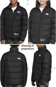 North Face Puffer 550 (Goose Down) Jacket Black/Dark Gray Boys Youth XL (14/16)